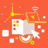 Cronometre o negócio diário Ilustração do Vetor