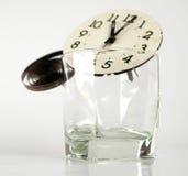 Cronometre partes em um vidro Imagem de Stock