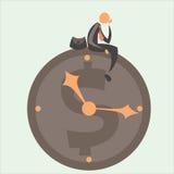 Cronometri contro l'affare 2 Fotografie Stock