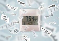 Cronometri e guardi il concetto con tempo che vola via Immagine Stock Libera da Diritti