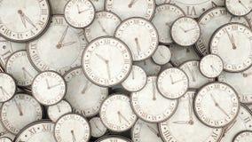 Cronometri il concetto, mazzo di orologi che 3d rendono illustrazione vettoriale