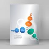 Cronometri il modello A4 della presentazione di rapporto di infographics di stile di affari illustrazione di stock