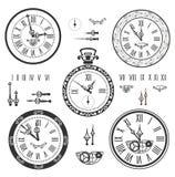 Cronometri l'insieme Illustrazione di Stock