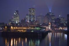 Cronometri la torre di orologio del towerThe in vecchio porto di Montreal fotografia stock libera da diritti
