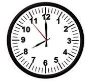 Cronometri una parete nera da 8 mattine, rappresentazione del fronte -3d Fotografie Stock Libere da Diritti