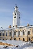 Cronometri una torretta di segnalatore acustico di Kremlin (il Detinets) Fotografia Stock