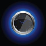 Cronometro con il oreol su fondo nero Immagine Stock Libera da Diritti