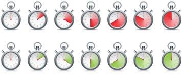 Cronometro con il passaggio di tempo Fotografie Stock Libere da Diritti