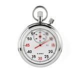Cronometro con il percorso di residuo della potatura meccanica Immagini Stock