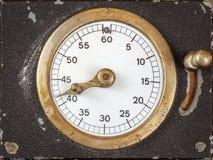 Cronometro d'annata con l'indicatore di secondi Fotografia Stock Libera da Diritti