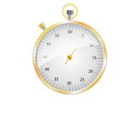Cronometro dell'oro e dell'argento Fotografie Stock