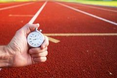 Cronometro della pista di corsa Fotografie Stock