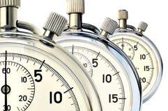 Cronometro meccanico tre Immagine Stock