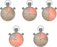 Cronometro messo con il settore Fotografia Stock Libera da Diritti