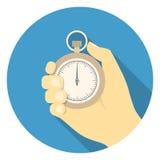 Cronometro nella mano Fotografie Stock