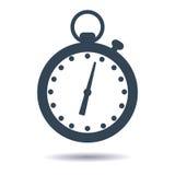 Cronometro piano dell'icona di vettore, temporizzatore Illustrazione di vettore Fotografia Stock Libera da Diritti