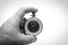 Cronometro pronto in bianco e nero fotografie stock libere da diritti