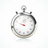 Cronometro - su bianco Fotografie Stock