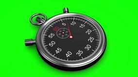 Cronometro su fondo verde video d archivio