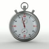 Cronometro su priorità bassa bianca Fotografie Stock Libere da Diritti