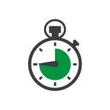 Cronometro in una progettazione piana Illustrazione EPS10 di vettore illustrazione vettoriale
