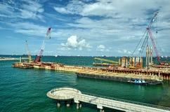 Construction at the Marina Royalty Free Stock Photography
