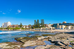 Cronulla beach coastline with people relaxing and doing sports Stock Images