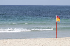Cronulla Beach Flag. Cronulla Beach Surf Lifesaving Flag - Swim Between The Flags stock image