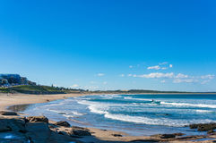 Cronulla coastline with people in distance royalty free stock photography