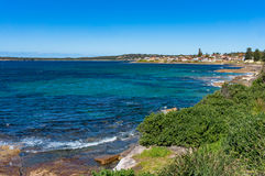 Cronulla coastline with view of Royal National Park and Oakley P Royalty Free Stock Images