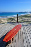 Cronulla surf bench. Red surf bench on Cronulla beach, Sydney, Australia Royalty Free Stock Image