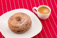 Cronut and coffee Stock Photos