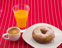 Cronut and coffee Stock Images
