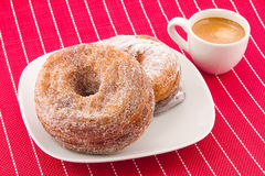 Cronuts and coffee Royalty Free Stock Images