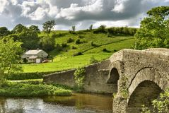 Crook Of Lune Bridge & House Royalty Free Stock Photo