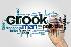 Crook word cloud Royalty Free Stock Photo
