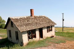 Crooked and abandoned home Royalty Free Stock Image