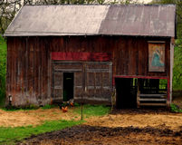 Crooked Barn Royalty Free Stock Photo