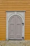 Crooked door Royalty Free Stock Image