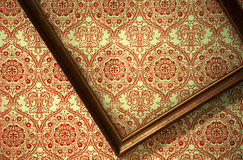 Crooked empty picture frame Royalty Free Stock Photo
