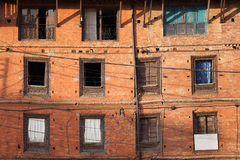 Crooked facade building Royalty Free Stock Images
