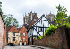 Crooked house in Lincoln. Stock Images
