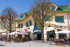 Crooked house on the Monte Cassino street in Sopot. The Crooked house on the main street of Monte Cassino in Sopot, Poland.The Crooked House is an irregularly Stock Images