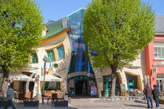 The Crooked house on Monte Cassino street Stock Photo