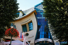 Crooked house on the Monte Cassino street in Sopot. Sopot, Poland, September 08 2013: View of the Crooked House on the famous pedestrian street of Monte Cassino Royalty Free Stock Image