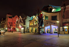 Crooked House in Sopot. Crooked house on the main street of Monte Cassino in Sopot, Poland Royalty Free Stock Photos