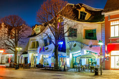 Crooked House in Sopot Stock Image