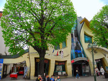 Crooked House in Sopot. Royalty Free Stock Images