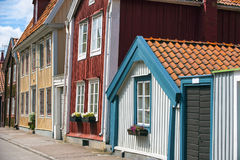 Crooked houses Stock Image