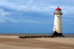 The crooked lighthouse royalty free stock photos